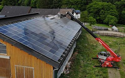 Reinigung Photovoltaikflächen
